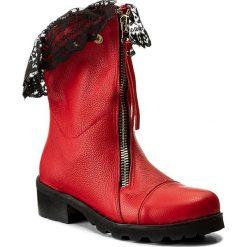 Buty zimowe damskie: Botki R.POLAŃSKI – 0887 Czerwony Lico