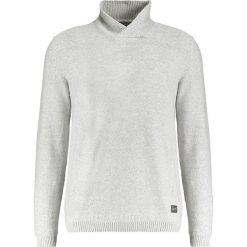 Swetry męskie: Jack & Jones JORFOLLOW HIGH SHAWL NECK Sweter light grey melange