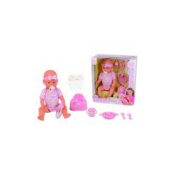 Lalka Simba New Born Baby funkcyjna 5039005. Różowe śliniaki marki Simba. Za 136,10 zł.