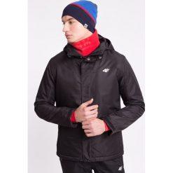 Kurtka narciarska męska KUMN300Z - czarny - 4F. Czarne kurtki męskie zimowe 4f, m, z materiału, z kapturem. Za 199,99 zł.