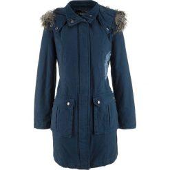 Płaszcz z haftem bonprix ciemnoniebieski. Niebieskie płaszcze damskie bonprix, z haftami. Za 269,99 zł.