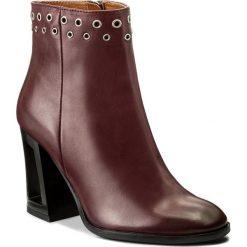 Botki EVA MINGE - Graciela 2O 17SF1372247EF 134. Czerwone buty zimowe damskie marki Eva Minge, ze skóry. W wyprzedaży za 269,00 zł.