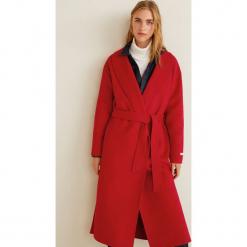 Mango - Płaszcz Loves. Czerwone płaszcze damskie wełniane Mango, l, w paski. Za 549,90 zł.