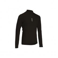 Koszulka długi rękaw na rower ROADCYCLING 100 męska. Czarne odzież rowerowa męska marki KALENJI, m, z materiału, do biegania. Za 39,99 zł.