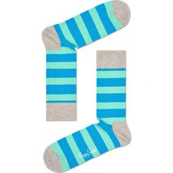 Happy Socks - Skarpety Stripe. Szare skarpetki męskie Happy Socks, z bawełny. W wyprzedaży za 27,90 zł.