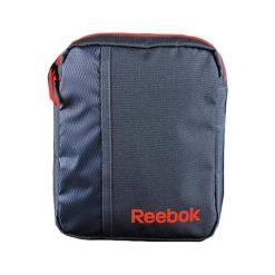 Torba w kolorze granatowym - (S)18 x (W)24 x (G)6 cm. Niebieskie torebki klasyczne damskie Reebok, w paski, z materiału. W wyprzedaży za 99,95 zł.