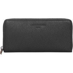 """Portfele damskie: Skórzany portfel """"Sally B2"""" w kolorze czarnym - 19,5 x 9,5 x 2,5 cm"""
