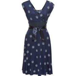 Sukienki: Sukienka bonprix ciemnoniebiesko-biały wzorzysty