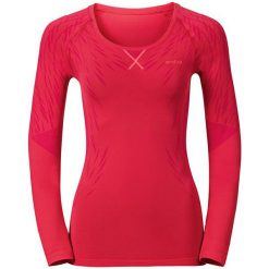 Bluzki sportowe damskie: Odlo Koszulka tech. Odlo EVOLUTION LIGHT Blackcomb Shirt l/s rozmiar S czerwona
