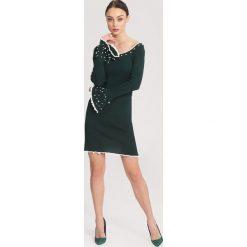 Ciemnozielona Sukienka Burgund. Zielone sukienki dzianinowe other, na jesień, l. Za 74,99 zł.