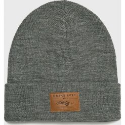 Quiksilver - Czapka. Szare czapki zimowe męskie Quiksilver, na zimę, z dzianiny. W wyprzedaży za 99,90 zł.