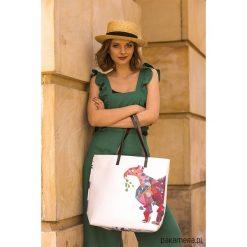 Torebki i plecaki damskie: Duża torba z nadrukiem The Gray Flamingo