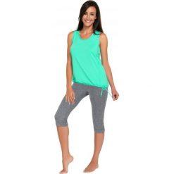 Spodnie dresowe damskie: Gwinner Leginsy CAPRI CLIMAline melanż r. XL