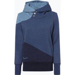 Ragwear - Damska bluza nierozpinana – Chelsea Block, niebieski. Niebieskie bluzy z kapturem damskie marki Ragwear, m. Za 169,95 zł.