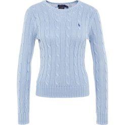 Polo Ralph Lauren JULIANNA Sweter chambray. Niebieskie swetry klasyczne damskie Polo Ralph Lauren, xl, z bawełny, polo. W wyprzedaży za 382,85 zł.