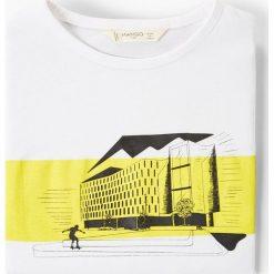 Mango Kids - T-shirt dziecięcy Charlie 110-164 cm. Szare t-shirty chłopięce z nadrukiem marki Mango Kids, m, z bawełny, z okrągłym kołnierzem. Za 35,90 zł.