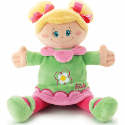 Przytulanki i maskotki: Trudi – Pluszowa lalka w zielonej sukience przytulanka 64093- zabawki dla niemowląt