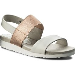 Sandały CAPRICE - 9-28608-20 White/Rosegold 118. Białe sandały damskie Caprice, z materiału. W wyprzedaży za 169,00 zł.