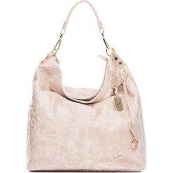 Torebki klasyczne damskie: Skórzana torebka w kolorze beżowym – 35 x 37 x 15 cm