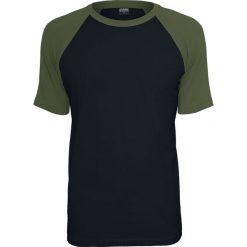 Urban Classics Raglan Contrast Tee T-Shirt czarny/oliwkowy. Niebieskie t-shirty męskie marki Urban Classics, l, z okrągłym kołnierzem. Za 49,90 zł.