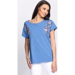 T-shirty damskie: Niebieski T-shirt Catch Me