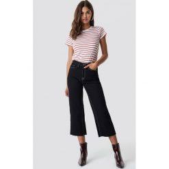 Spodnie damskie: NA-KD Trend Spodnie culotte z wysokim stanem - Black