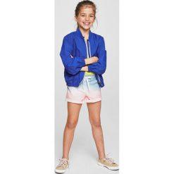 Mango Kids - Szorty dziecięce Deep 110-164 cm. Szare spodenki dziewczęce Mango Kids, z bawełny, casualowe. W wyprzedaży za 29,90 zł.