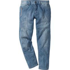"""Jeansy męskie regular: Dżinsy Regular Fit Tapered bonprix niebieski """"medium bleached used"""""""