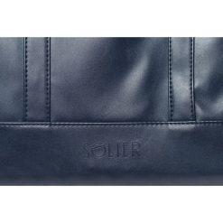 Torby na laptopa: Granatowa elegancka torba na laptopa Solier NORMAN