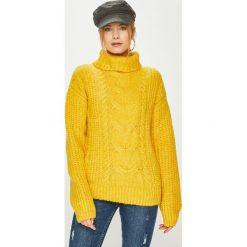 Answear - Sweter. Żółte golfy damskie ANSWEAR, m, z dzianiny. Za 119,90 zł.