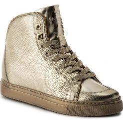Sneakersy BADURA - 6337-69-M Złoty 738. Żółte sneakersy damskie marki Kazar, ze skóry, na wysokim obcasie, na obcasie. W wyprzedaży za 289,00 zł.