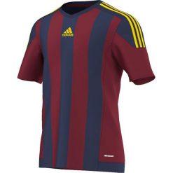 Adidas Koszulka piłkarska męska Striped 15 granatowo-bordowa r. M (S16141). Czerwone koszulki do piłki nożnej męskie marki Adidas, m. Za 99,90 zł.