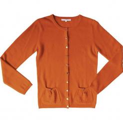 Kardigan kaszmirowy w kolorze pomarańczowo-czerwonym. Brązowe kardigany damskie marki Ateliers de la Maille, z kaszmiru. W wyprzedaży za 363,95 zł.