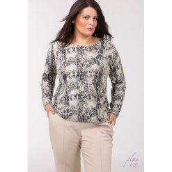 Swetry klasyczne damskie: Sweter z wężowym motywem Plus