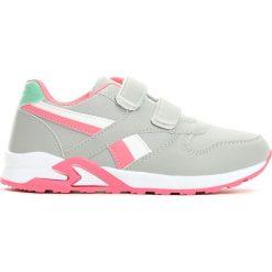 Szaro-Różowe Buty Sportowe Team Leader. Czerwone buty sportowe dziewczęce Born2be, na lato, z materiału, z okrągłym noskiem. Za 59,99 zł.