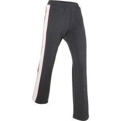 Spodnie dresowe damskie: Spodnie dresowe palazzo, długie bonprix szary melanż
