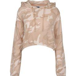 Bluzy damskie: Urban Classics Ladies Camo Cropped Hoodie Bluza z kapturem damska Rose Camo