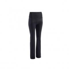 Legginsy Regular Gym & Pilates 900 damskie. Czarne legginsy sportowe damskie marki DOMYOS, l, z bawełny. W wyprzedaży za 69,99 zł.