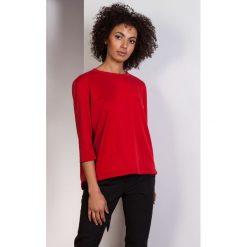 Luźna bluzka-frak, BLU140 czerwony. Czerwone bluzki nietoperze marki Pakamera, biznesowe. Za 119,00 zł.