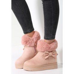 Różowe Śniegowce One More Time. Czerwone buty zimowe damskie vices. Za 99,99 zł.