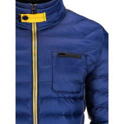KURTKA MĘSKA PRZEJŚCIOWA PIKOWANA C292 - GRANATOWA. Niebieskie kurtki męskie pikowane Ombre Clothing, m, z nylonu, eleganckie. Za 79,00 zł.