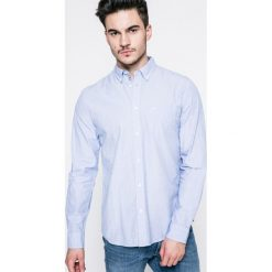 Wrangler - Koszula. Szare koszule męskie na spinki marki S.Oliver, l, z bawełny, z włoskim kołnierzykiem, z długim rękawem. W wyprzedaży za 139,90 zł.