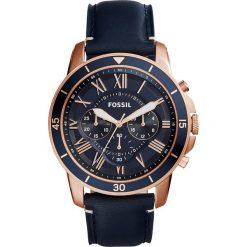 Zegarek FOSSIL - Grant Sport FS5237 Blue/Rose Gold. Różowe zegarki męskie marki Fossil, szklane. Za 589,00 zł.