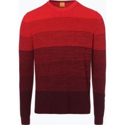 Swetry klasyczne męskie: BOSS Casual – Sweter męski – Akatrusco, czerwony