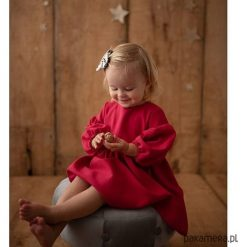 Sukienka Nikola. Brązowe sukienki dziewczęce z falbanami Pakamera, z bawełny. Za 249,00 zł.