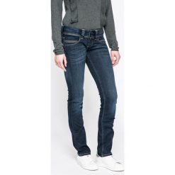 Pepe Jeans - Jeansy Venus. Niebieskie proste jeansy damskie Pepe Jeans, z obniżonym stanem. W wyprzedaży za 349,90 zł.