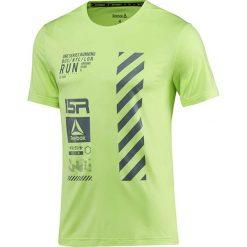 Koszulka do biegania męska REEBOK ONE SERIES RUNNING REFLECTIVE / BR4361. Zielone koszulki do biegania męskie marki Reebok, m. Za 119,00 zł.