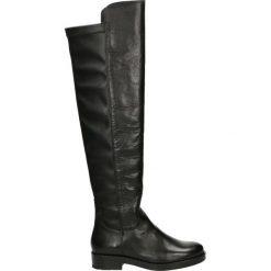 Kozaki - 360003FY P NE. Czarne buty zimowe damskie Venezia, ze skóry. Za 599,00 zł.