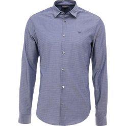 Emporio Armani CAMICIA Koszula biznesowa micro pois blu. Niebieskie koszule męskie marki Emporio Armani, m, ze lnu. Za 639,00 zł.