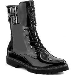 Botki EVA MINGE - Reina 2M 17BD1372202EF 301. Czarne buty zimowe damskie marki Eva Minge, z lakierowanej skóry, na obcasie. W wyprzedaży za 279,00 zł.